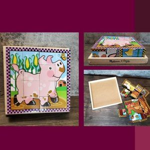 Melissa & Doug Wooden Animal 6 in 1 puzzle
